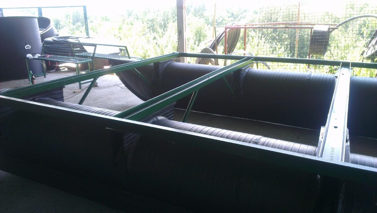 plastični ponton u pripremi